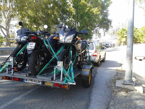 Malaga przyczepa cztery motocykle