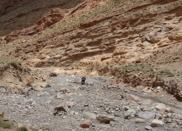 Dades Todra Maroko korytem rzeki 5